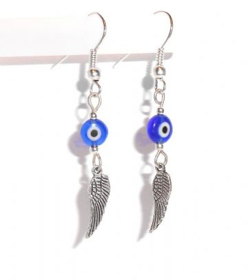 Murano Glass 'Evil Eye' & Wings Earrings